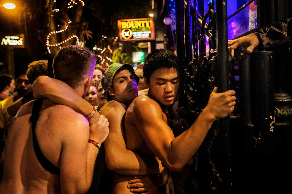 nikon walkley awards for excellence in photojournalism  a schoolie is held by friends after being evicted from a nightclub in legian nic walker